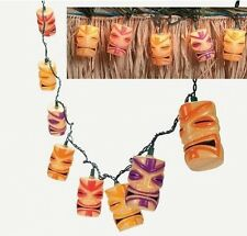 Tiki Head Light String Set, Luau Party Patio Lights, Decoration Decor Deck, New