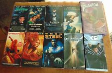 Lot of 10 SUPER-HERO VHS Tapes - Spider-man  X-Men  Batman  The Phantom +