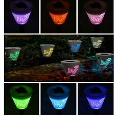 Butterfly Solar Power 7 Colour Changing LED Light Outdoor Landscape Garden Lamp
