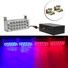 1Set 4*22LED Flash Strobe Light Red/Blue Car Dash Beacon Bright Warning Lamb