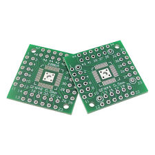 2 Pcs - QFP TQFP LQFP QFN 44/48 Pin @ 0.5mm Pitch to DIP IC Adapter Board