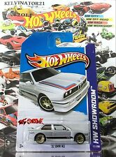 Hot Wheels 2013 #172 '92 BMW M3 SILVER,1ST EDITION,GOLD CHROME WSP,METAL SPOILER