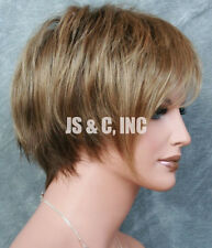 Chic and Sassy Jon Renau Short Pixie Wig Blonde Lt Brown mix 10/26TTS4 JRNA