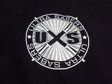Ultrasabers Logo Black T-Shirt Men's S Ultra Sabers