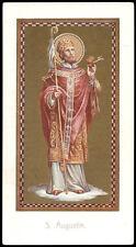 antico santino cromo-holy card  S.AGOSTINO