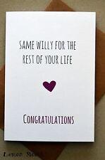 FUNNY Saluti CARD/Fidanzamento/Nozze/UMORISMO/qualche battuta/FUNNY-stesso W