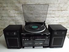 Vintage 1980s Sanyo W10 Hi Fi System TPW10 Record Player Twin Cassette Tape Deck
