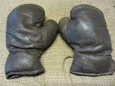 Vintage 1950s Jack Dempsey Leather Boxing Gloves   Antique Everlast Childs 8091