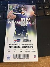 2016 SEATTLE SEAHAWKS VS BUFFALO BILLS TICKET STUB 11/7 JIMMY GRAHAM MNF