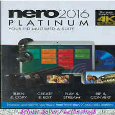 Nero 2016 Platinum. Sealed Retail Box.✔Free Fast✈Ship/✍Tracking