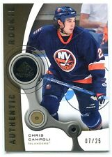 2005-06 SP Game Used Gold 144 Chris Campoli Rookie 7/25