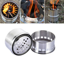 Outdoor BBQ Cooking Picnic Wood Stove Portable Solidified Alcohol Stove Camping