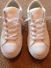 converse all star white leather New Without Tags Or Box Size 4.5 Unisex