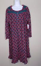 Catherines Plus Size Green red plaid with snowflakes Long nightgown Size 0X 16W