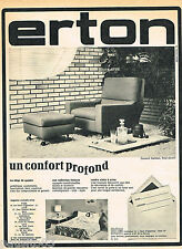 PUBLICITE ADVERTISING 065  1966  ERTON   fauteuil BARBARA pouf assorti