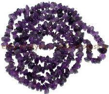 Jewelry Making 6-7mm Freeform Chips Amethyst Genstone Loose  Beads Strand 32""
