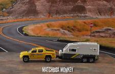Honda Ridgeline Pickup  w/ Camper Trailer RV Diorama 1:64 HO S Jayco Jay Hawk