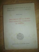 SERGIO DARIS - DOCUMENTI PER LA STORIA DELL'ESERCITO ROMANO IN EGITTO 1964 (LY)