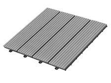 Interlocking Decking Snap on Tile Outdoor 12x12 Inch Dark Gray Hard Semi Surface