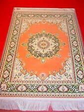 Casa de muñecas en miniatura de alfombra turca de tejido Grande Naranja/Amarillo/Verde/Blanco/Negro