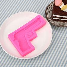 3D Gun Pistol Silicone Cake Chocolate Mould Fondant Mold Sugarcraft Baking