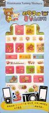 San-X Rilakkuma Relax Bear Epoxy Tuning Stickers Sticker Sheet~Kawaii!