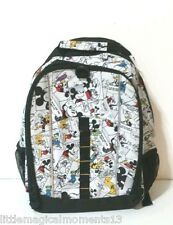 NEW DISNEY PARKS MICKEY AND FRIENDS COMIC STRIP BOOK BAG BACK PACK PLUTO MICKEY
