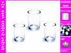 30 Clear Glass Votive Tea Light Tealight Candle Candles Holder wedding event dec