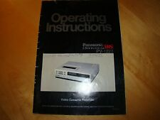 PANASONIC OMNIVISION PV 1220 VIDEO CASTTE RECORDER OPERATING INSTRUCTIONS