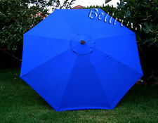 ROYAL BLUE Umbrella Canopy 9 FT 8 Ribs Top Patio Market  Replacement Cover X