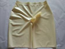 Latex Rubber Caoutchouc White and Transparent Sexy Shorts Size XS-XXL