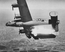 WW2  Photo WWII B-24 Liberator Bomber Shot Down Over Italy  World War Two /5225