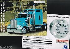 KENWORTH Truck OPTIONS / ACCESSORIES Brochure's:Stylized WHEELS,DANA SPICER Axle