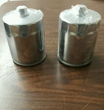 CHROME OIL FILTER W/ NUT FOR HARLEY DAVIDSON TWIN CAM 1999 TO PRESENT 2 PACK!!