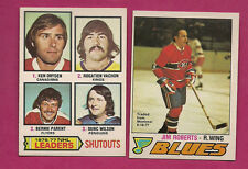 1977-78 OPC CANADIENS JIM ROBERTS + KEN DRYDEN LEADERS  CARD