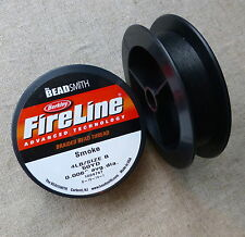 Beadsmith FireLine Beading Thread 4lb, size B, .006, 50yds SMOKE colour