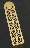 FLEUR DE LYS Lis Bookmark metal Sea Gems gold plate Gift 125mm 5inch