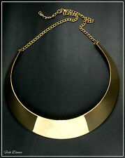ETHNIC TRIBAL STYLE BRASS CHUNKY CRESCENT STATEMENT NECKLACE (18)