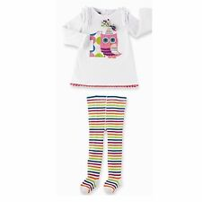 "NWT MUD PIE ""I'm One"" OWL BIRTHDAY TUNIC/TIGHTS SET SIZE 12-18 MONTHS"