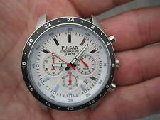 SPARES OR REPAIRS PULSAR BY SEIKO DIAL PILOT CHRONOGRAPH DIVERS 100M BIG 47MM