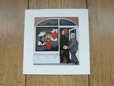 """BERYL COOK""""LINGERIE SHOP"""" MOUNTED CARD 8 X 8 FUNNY"""