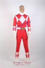 Power Rangers Red Ranger Cosplay Costume Only Body suit and gloves arm covers