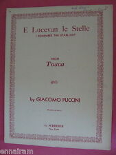 Puccini E Lucevan le Stelle I Remember the Starlight from Tosca 1956 John Gutman