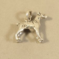 .925 Sterling Silver 3-D DOBERMAN PINSCHER CHARM NEW Puppy Dog Pendant 925 DG55