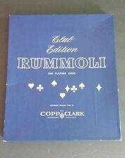 Vintage Copp Clark Club Edition RUMMOLI Card/Poker Board Game Family 1940