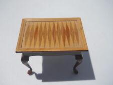 Vintage Miniature Dollhouse Backgammon Table Bespaq Fantastic Merchandise