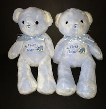 2 Carters Just One Year blue My First Bear baby Teddy Bears Trains Lot of two