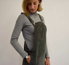 SALE Abbeville Corduroy pinafore dungaree dress charcoal style of Topshop 10