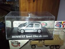 IXO RENAULT CLIO V6 SPORT Gray 1999 NEW BOX