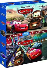 CARS 1 & 2 BLU-RAY DISC 2-MOVIE COLLECTION REGION FREE SET BRAND NEW SEALED RARE